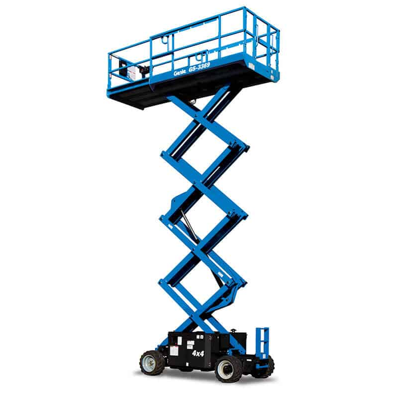 Genie GS-3369 DC – 11.75 m Rough Terrain Scissor Lift